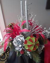 Silver Christmas Centerpiece