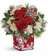 Silver Christmas Floral Bouquet