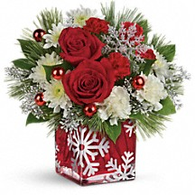 Silver Christmas Winter Floral