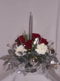SILVER  CLASSICS Christmas Flower Arrangments,   Florists in Prince George BC