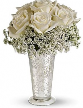 Silver Dreams Wedding Ceremony Flowers