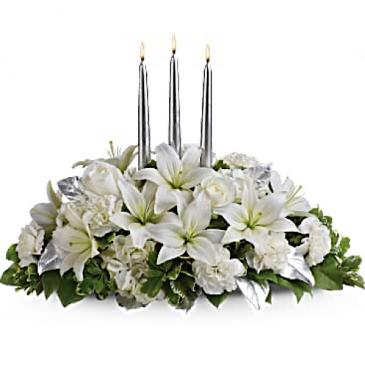 Silver Elegance  Centerpiece