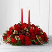 Silver Elegance Centerpiece Fresh Flowers