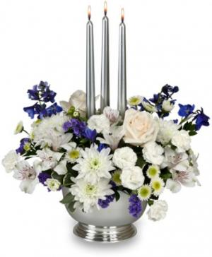 Silver Elegance Centerpiece in Ganado, TX | The Holiday House Florist