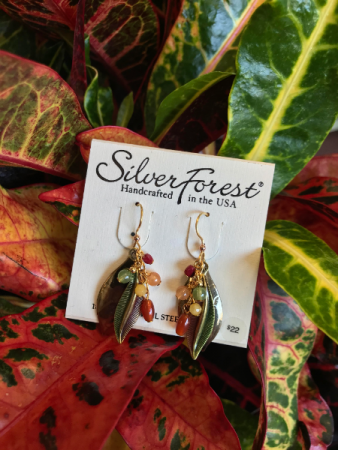 Silver Forest Mixed Metal Fall Leaf Silver Forest Earrings