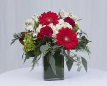 Santa's Helper Rectangle vase arrangement