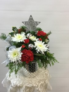 Silver Mason Jar Arrangment