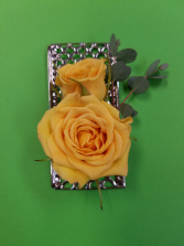 Silver Metal Boutonniere
