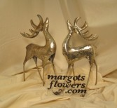 Silver Metal Reindeer Giftware-Margot's Delivery Area Only