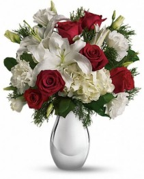 EXCLUSIVELY AT FLOWERS TODAY FLORIST SILVER NOEL BOUQUET