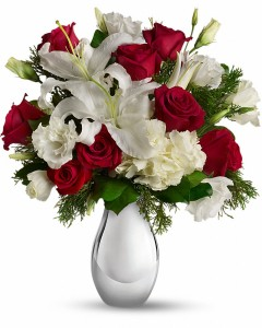 Silver Noel Bouquet Fresh Flower Arrangement