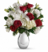 Silver Noel Bouquet                  T406-1 Winter Floral Arrangement