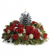 Silver Pinecone Centerpiece Christmas