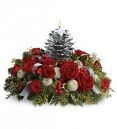 Silver Pinecone Centerpiece Christmas