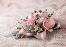 Silver & Pink Wristlet