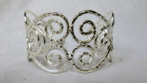 Silver Plated Cuff Bracelet - scrolls Gift Item