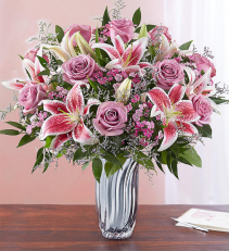 Silver Reflections Mothers Day Arrangement