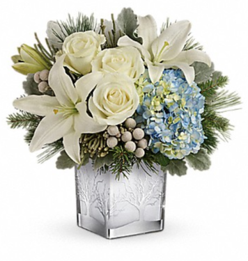 Silver Snow Bouquet  Arrangement