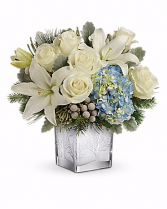 Silver Snow Christmas Keepsake Bouquet