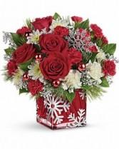 Silver Snowflake  Christmas Flowers