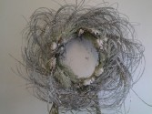 Silver sparkly wreath Permanent Wreath