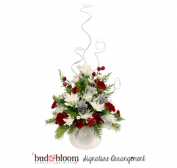 *SOLD OUT* Silver Splendor Bud & Bloom Signature Arrangement