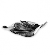 Silver Turning Leaf Pin
