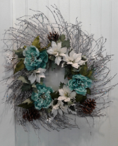 silver twig wreath Artificial wreath