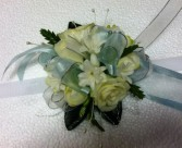 Silver white corsage PROM FLOWERS