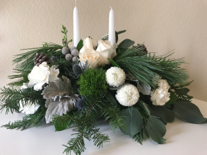 Silver Winter Blooms  in Aliso Viejo, CA   Lily Fiore Floral Boutique