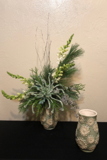 Silver Winter Keepsake Arrangement