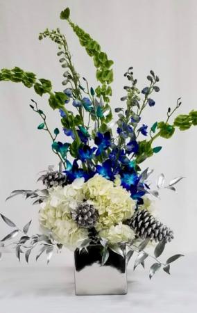 Silver Winter Vase arrangement