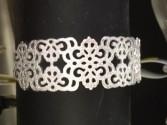 Silvertone cuff bracelet jewelry