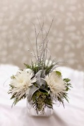 Silvery Frost Centerpiece