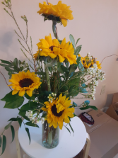 simple and just sunflowers sunflowers in vase
