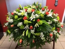 Simple Beauty Casket Arrangement