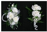 Simple Carnation Combo Wrist Corsage..Can Be Done In Red , Pink , Yellow