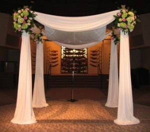 Simple Chuppah  in Teaneck, NJ | Teaneck Flower Shop (A.A.A.A.A.)