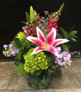 Simple Elegance Vased Fresh Arrangement