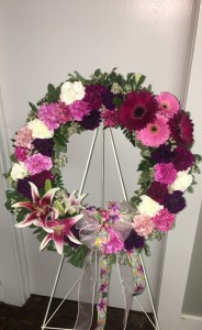 "Simple Elegance  Wreath Standing Spray  in Toccoa, GA | TARA'S ""HAPPIES"" FOR YOU FLORAL & GIFT SHOP"