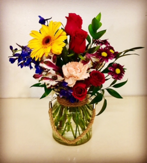 Simple Living Floral Rose with various Mixed floral in Plainview, TX | Kan Del's Floral, Candles & Gifts