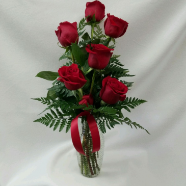 Simple love 1/2 dozen red roses