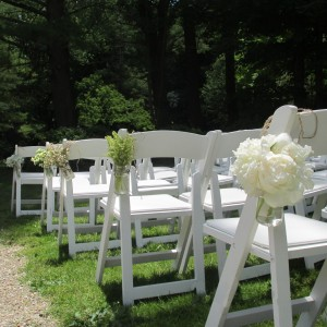 Simple Mason Jar Wedding Aisle Decor in North Adams, MA | MOUNT WILLIAMS GREENHOUSES INC