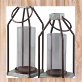 Simple Metal and Glass Lantern gift