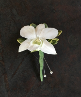Simple Orchid Boutonniere