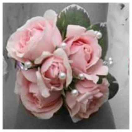 Simple Pink Sweetheart rose Prom Corsage