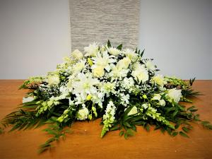 Simple Splendor Casket Cover in Boca Raton, FL   Flowers of Boca