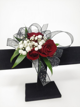Simple Style in Red  Wrist Corsage
