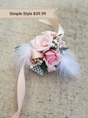 Simple Style Wrist Corsage in Springfield, MO | FLOWERAMA #226