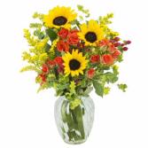 Simple & Sunny Floral Arrangement
